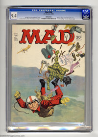Mad #106 (EC, 1966) CGC NM 9.4 White pages. Norman Mingo cover. Frank Frazetta back cover. Batman spoof. Overstreet 2004...
