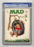 "Original Comic Art:Covers, Mad #134 Gaines File pedigree (EC, 1970) CGC NM 9.4 White pages.""Midnight Cowboy"" parody. Beatles, Timothy Leary, and Hugh ..."