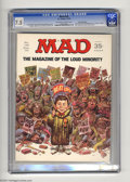 "Magazines:Humor, Mad #139 Gaines File pedigree (EC, 1970) CGC VF- 7.5 Off-white towhite pages. ""Airport"" parody. Non-slanderous smear speech..."