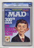 Magazines:Mad, Mad #300 Gaines File pedigree (EC, 1991) CGC VF 8.0 White pages.Hussein Asylum edition; only distributed to the troops in t...