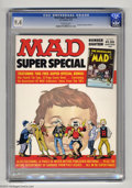 Magazines:Mad, Mad Super Special #18 (EC, 1975) CGC NM 9.4 Off-white pages.Includes comic book The Nostalgic Mad #4. Overstreet 2004 N...