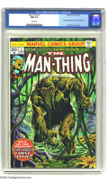 Bronze Age (1970-1979):Horror, Man-Thing #1 (Marvel, 1974) CGC NM 9.4 White pages. Secondappearance of Howard the Duck. Frank Brunner cover. Steve Gerber...