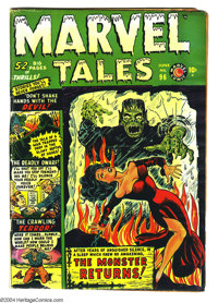Marvel Tales #96 (Atlas, 1950) Condition: VG. Syd Shores cover. Gene Colan and Mike Sekowsky art. Overstreet 2004 VG 4.0...