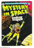 Golden Age (1938-1955):Science Fiction, Mystery in Space #16 (DC, 1953) Condition VG+. InterplanetaryInsurance feature by Carmine Infantino begins in this issue. O...