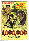 Golden Age (1938-1955):Adventure, One Million Years Ago #1 (St. John, 1953) Condition: VG+. Origin and first appearance of Tor. Joe Kubert cover and art. Over...
