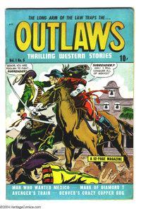 Outlaws #5 (Star, 1948) Condition FN+. Sky Sheriff by Elwood Good. Off-white pages. Overstreet 2004 FN 6.0 value = $48;...