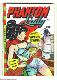 Phantom Lady #20 (Fox Features Syndicate, 1948) Condition GD+. Matt Baker cover and art. Water damage, last page partial...