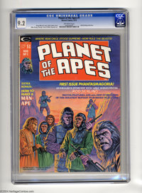 Planet of the Apes (Magazine) #1 (Marvel, 1974) CGC NM- 9.2 Off-white pages. Mike Ploog and George Tuska art. Rod Serlin...