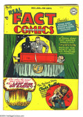 """Golden Age (1938-1955):Non-Fiction, Real Fact Comics #15 (DC, 1948) Condition VG-. Nuclear explosion""""Last War on Earth"""" story. Clyde Beatty story. Spine sugges..."""
