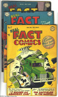 Golden Age (1938-1955):Non-Fiction, Real Fact Comics Group (DC, 1948-49). This group contains issues#17 (GD), 18 (VG+), 20 featuring a Daniel Boone story (GD),...(Total: 4 Comic Books Item)