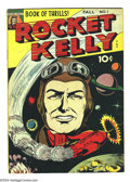 Golden Age (1938-1955):Science Fiction, Rocket Kelly #1 (Fox Features Syndicate, 1944) Condition VG+.Overstreet 2004 VG 4.0 value = $70....