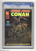 Magazines:Miscellaneous, Savage Sword of Conan #6 (Marvel, 1975) CGC NM 9.4 White pages.Alex Nino cover and art. Overstreet 2004 NM- 9.2 value = $18...