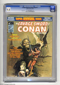 Magazines:Superhero, Savage Sword of Conan Annual #1 (Marvel, 1975) CGC NM 9.4 Off-whiteto white pages. Barry Smith art. Overstreet 2004 NM- 9.2...