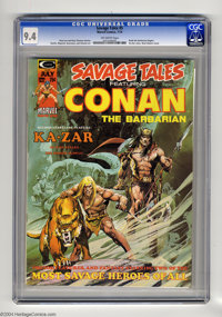 Savage Tales #5 (Marvel, 1974) CGC NM 9.4 Off-white pages. Neal Adams cover. Other artists include Jim Starlin and John...