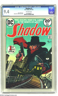 The Shadow #1 (DC, 1973) CGC NM 9.4 Off-white pages. Michael William Kaluta cover and art. Denny O'Neil story. Overstree...
