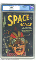 Golden Age (1938-1955):Science Fiction, Space Action #2 River City pedigree (Ace, 1952) CGC VF/NM 9.0 Off-white pages. Space giants and silicon monsters, all in one...