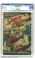 Golden Age (1938-1955):Science Fiction, Space Patrol #2 Bethlehem pedigree (Ziff-Davis, 1952) CGC VF 8.0Off-white pages. Norman Saunders' powerful painted portrait...
