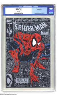 Spider-Man #1 Silver Edition (Marvel, 1990) CGC NM/MT 9.8 White pages. Todd McFarlane cover, story, and art. Overstreet...