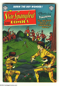 Star Spangled Comics #111 (DC, 1950) Condition VF. White pages. Fred Ray cover. Ray, Leonard Starr, Paul Norris, and Jim...
