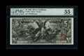 Large Size:Silver Certificates, Fr. 268 $5 1896 Silver Certificate PMG About Uncirculated 55....
