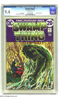 Bronze Age (1970-1979):Horror, Swamp Thing #1 (DC, 1972) CGC NM 9.4 Off-white pages. Origin ofSwamp Thing. Bernie Wrightson cover and art. Len Wein story....