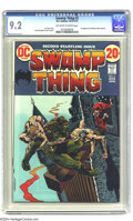 Bronze Age (1970-1979):Horror, Swamp Thing #2 (DC, 1973) CGC NM- 9.2 Off-white to white pages.First appearance of Patchwork Man (cameo). Bernie Wrightson ...