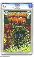 Bronze Age (1970-1979):Horror, Swamp Thing #9 (DC, 1974) CGC NM+ 9.6 Off-white to white pages.Bernie Wrightson cover and art. Len Wein story. Overstreet 2...