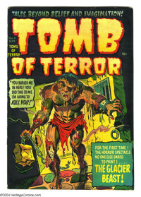 """Tomb of Terror #4 (Harvey, 1952) Condition: VF. Overstreet notes that the comic includes a """"heart ripped out""""..."""