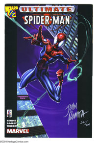 Ultimate Spider-Man #1/2 Signed Copy (Marvel, 2002). Autographed on the cover by John Romita Sr. (number 361/400). Inclu...