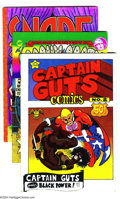 Bronze Age (1970-1979):Alternative/Underground, Underground Comix Group Group (Various, 1970-78). Get hip with these Undergrounds: Captain Guts #2 (VG, Larry Welz art);... (Total: 7 Comic Books Item)
