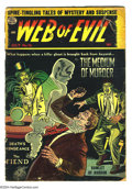 Golden Age (1938-1955):Horror, Web of Evil #16 (Quality, 1954) Condition: FR. Back cover detached.Overstreet 2004 GD 2.0 value = $25....
