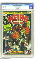 Bronze Age (1970-1979):Horror, Weird Wonder Tales #1 (Marvel, 1973) CGC NM- 9.2 Off-white to whitepages. Gil Kane cover. Al Hartley, Sid Check, Ed Winiars...