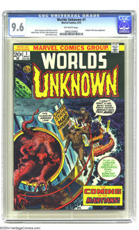 Worlds Unknown #1 (Marvel, 1973) CGC NM+ 9.6 Off-white pages. Frederik Pohl story adaptation. John Romita Sr. cover. Ger...