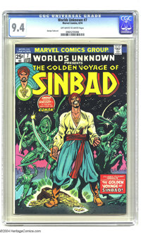 Worlds Unknown #7 (Marvel, 1974) CGC NM 9.4 Off-white to white pages. Golden Voyage of Sinbad adaptation. George Tuska a...