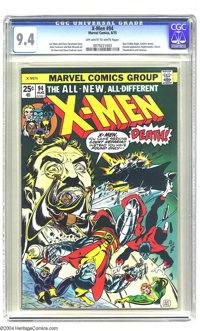 X-Men #94 (Marvel, 1975) CGC NM 9.4 Off-white to white pages. The new X-Men begin in this issue of the regular series. S...