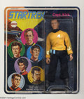 Memorabilia:Science Fiction, Star Trek Captain Kirk Action Figure (Mego, 1974). An eight-inch-tall poseable action figure, complete with phaser and commu...