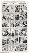 Original Comic Art:Miscellaneous, Sy Berry -The Phantom Comic Strip, Printer's Proof Sheets (KingFeatures Syndicate, 1967). A set of four sheets featuring pr...
