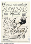 Original Comic Art:Covers, Paul Fung Jr. (attributed) - Dagwood Comics #12 Original Cover Art(Harvey, circa 1950s). Those dog-gone dogs are causing Da...