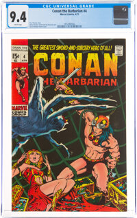 Conan the Barbarian #4 (Marvel, 1971) CGC NM 9.4 White pages