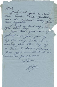 """Bruce Lee Handwritten Letter Signed """"Bruce"""" Written to Bob Baker During the Filming of Enter the Dragon"""