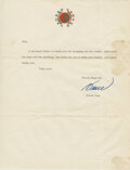 """Movie/TV Memorabilia:Documents, Bruce Lee Typed Letter Signed """"Bruce"""" Written to Bob Baker Thanking Baker For The """"Pipe and the Painting.""""..."""