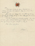 """Movie/TV Memorabilia:Documents, Bruce Lee Handwritten Letter Signed """"Bruce"""" Written to Bob Baker Telling Baker, """"Things Live by Moving, and Gain Strength As T..."""