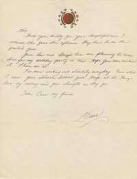 """Bruce Lee Handwritten Letter Signed """"Bruce"""" Written to Bob Baker Telling Baker, """"Things Live by Moving, a..."""