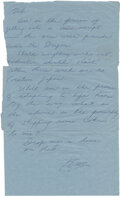 """Movie/TV Memorabilia:Documents, Bruce Lee Handwritten Letter Signed """"Bruce"""" and """"Bruce Lee"""" (On Address Panel) Written to Bob Baker Concerning His Upcoming Fi..."""