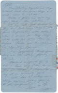 """Movie/TV Memorabilia:Documents, Bruce Lee Handwritten Letter Signed """"Bruce"""" and """"Bruce Lee"""" (On Address Panel) Written to Bob Baker During Strenuous Filming o..."""