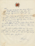 """Movie/TV Memorabilia:Documents, Bruce Lee handwritten letter signed """"Bruce"""" written to Bob Baker regarding Lee's potential work with Blake Edwards and his he..."""