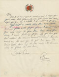 """Movie/TV Memorabilia:Documents, Bruce Lee Handwritten Letter Signed """"Bruce"""" Written to Bob Baker Regarding Needing """"Lots of Paper"""" and Mentioning Lee's Son Br..."""