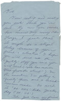 """Movie/TV Memorabilia:Documents, Bruce Lee Handwritten Letter Signed """"Bruce"""" Written to Bob Baker Lamenting Baker's """"Friend"""" Being Busted and Requesting More """"..."""