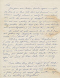 """Movie/TV Memorabilia:Documents, Bruce Lee Handwritten Letter Signed """"Bruce"""" Written to Bob Baker Talking About Lee Taking a Loan from Baker and the Feeling of..."""
