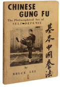 Movie/TV Memorabilia:Documents, Chinese Gung Fu: The Philosophical Art of Self-Defense by Bruce Lee, First Edition, 1963, From the Collection of Bob B...